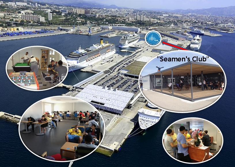 Seamens club port autonome Marseille Situation